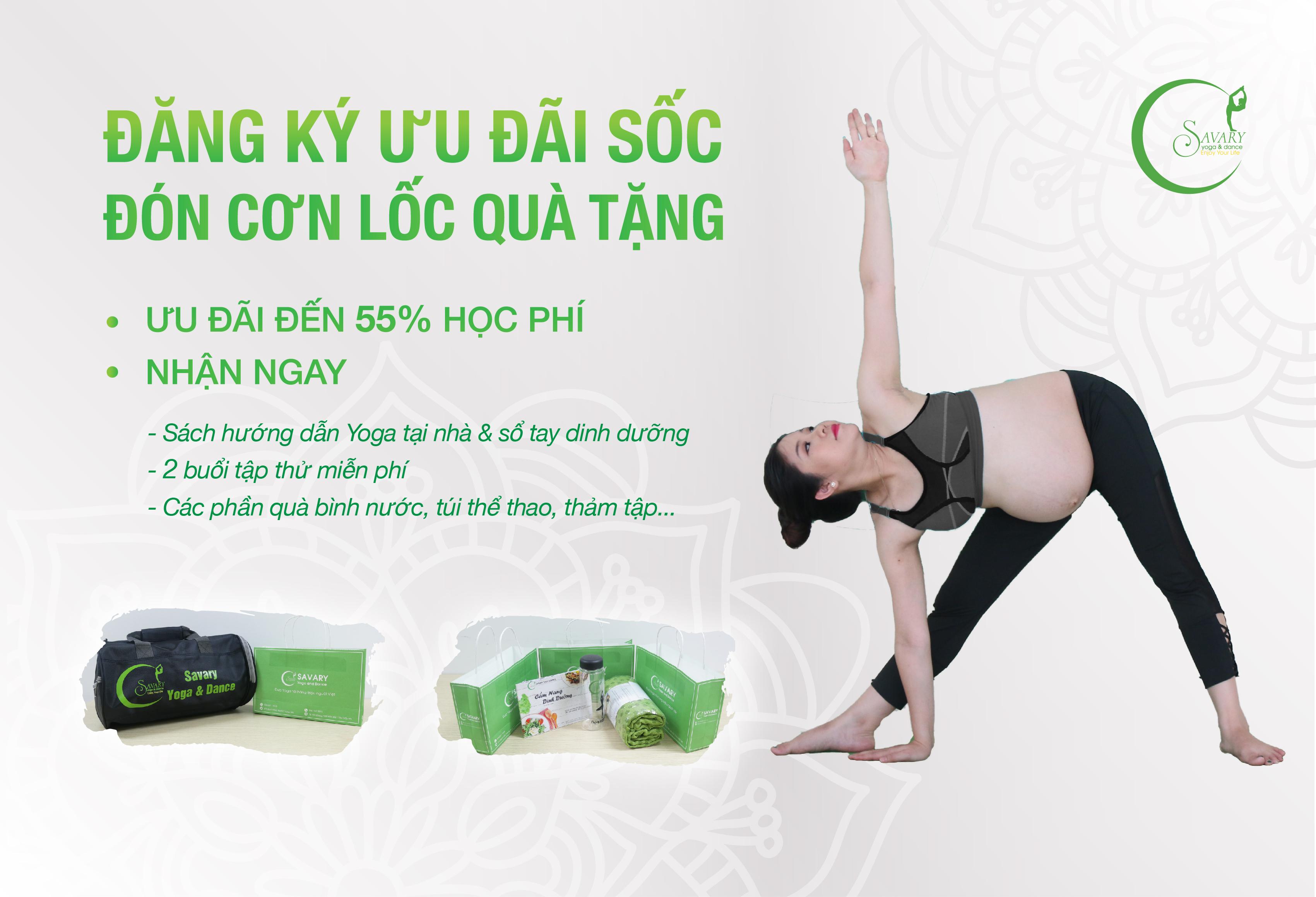 Savary Yoga ưu đãi khoá học